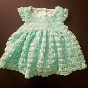 Cat & Jack Aqua Dress Sz 3-6 Months NWT